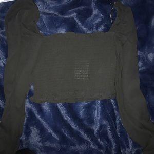 Woven black top